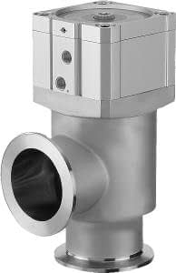 Pneumatic operated smooth pumping angle valve, single acting, DN50KF