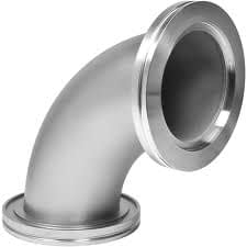 90º radius elbow DN100ISO, stainless steel 316L