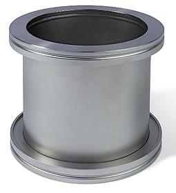Full nipple DN100ISO, L=100mm, Aluminum
