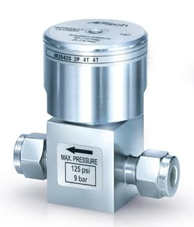 Air operated diaphragm valve with 1/4