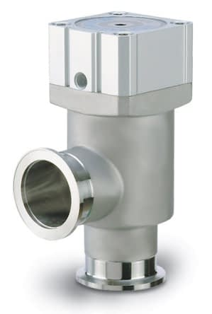 Pneumatic operated, bellow sealed angle valve, single acting, excluding solenoid, DN40KF