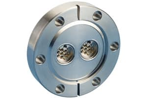 C-type subminiature feedthrough two-9-pins on DN40CF flange