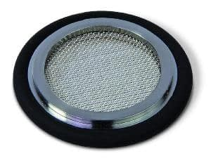 Filter centering ring 0.3 mm, Silicone, DN25KF