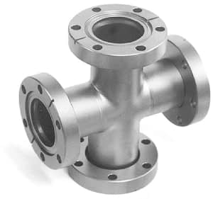 4-Way cross 2 flanges rotatable, DN40CF, stainless steel 316L
