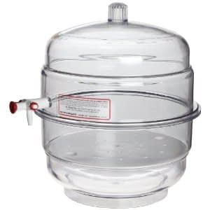 Plastic Bell Jar and base with 4