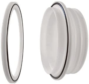 Glove port feedthrough including O-ring. POM material. diameter 180mm