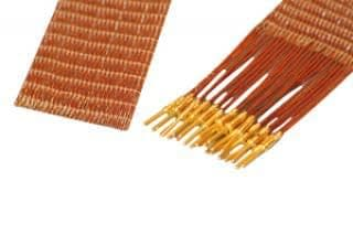 25-wire ribbon cable 100cm long, one side male pins
