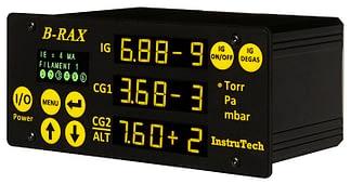 Vacuum controller to 10 e-10 mBar for BA602 nude or BA603 glass I2R Bayard-Alpert hot cathode ionization gauge and 2 Convection gauges