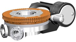 Differentially pumped rotary seal 360º rotation. Manual operated. DN63CF flange with tapped flanges