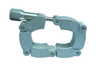 Chain clamp Aluminum / steel for elastomer seal, DN50KF