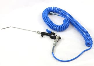 Heli-Jet spray gun, with 250mm long nozzle and polyurethane spiral tube 1 - 4 meter