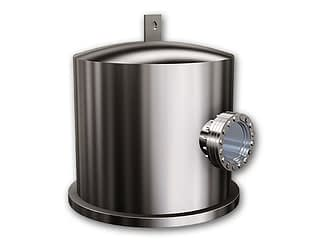 Stainless Steel bell jar with single viewport, lifting lug and O-ring diameter 36