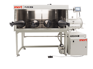 PureLab HE double sided 4 gloves Inert work station with stand - 1950mm long x 1000mm deep. Gas purifier sold seperately.