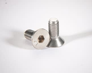 Metric non-vented socket flat head screw DIN7991, Silver plated, M6 x 16mm