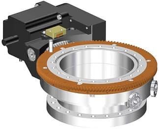 Differentially pumped rotary seal 360º rotation. Stepper motor operated. DN150CF flange with tapped flanges