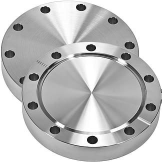 Blank flange non-rotatable, DN19CF, OD=34mm, 6 bolt holes