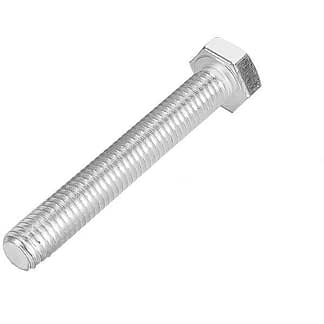 Silver plated hex head bolts M4 x 20mm