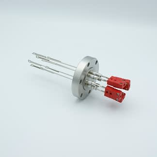 4 pair Thermocouple type-C feedthrough with both side connectors included, DN40CF flange