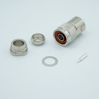 Type-N Coax connector for cable RG214/U