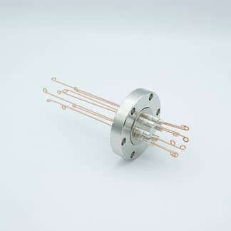 4 pair Thermocouple type-R or S feedthrough with both side connectors included, DN40CF flange