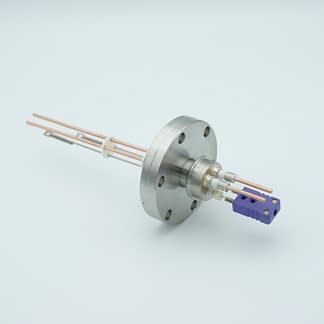 1 pair Thermocouple type-E and 1 pair copper feedthrough 5000V, with TC connectors included, DN40CF flange