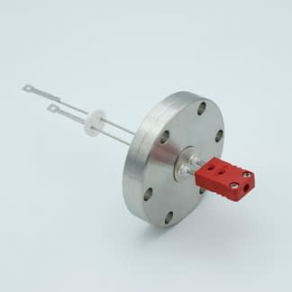 1 pair Thermocouple type-C feedthrough with both side connectors included, DN40CF flange