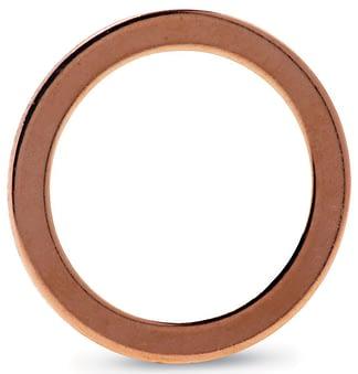 Copper gasket (100/pkg) (ID 254,2 mm; OD 272,9 mm), DN250CF