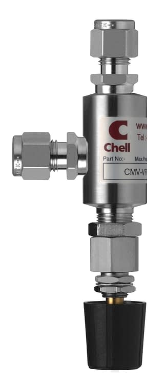 Medium flow needle valve with 1/4