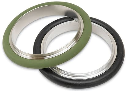 Stainless steel centering ring with Viton seal, DN50KF